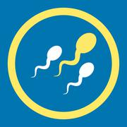 Sperm Rounded Vector Icon - stock illustration