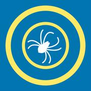 Stock Illustration of Spider Rounded Vector Icon