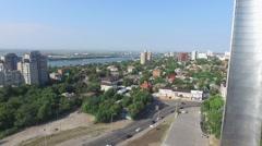 Flight up near memorial in Rostov-on-Don - stock footage