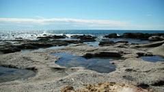 Coast Of The Mediterranean Sea. Turkey. Rocky Beach. Stock Footage