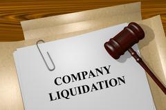 Stock Illustration of Company Liquidation concept