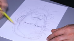 Crime suspect Police Sketch Artist  13 Stock Footage
