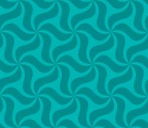 Seamless green and blue curved pattern wallpaper Stock Illustration