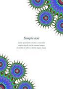 Color page corner design template - stock illustration