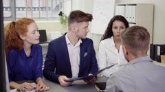 Business People Having a Meeting in the Office Stock Footage