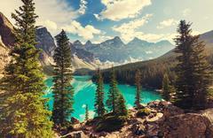 Stock Photo of Beautiful Moraine lake in Banff National park, Canada