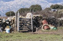 A corner in the farm Stock Photos