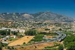 Mijas in Malaga, Andalusia, Spain. Summer Cityscape Stock Photos