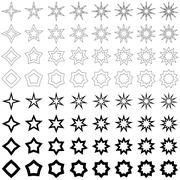 Stock Illustration of Black star shape collection