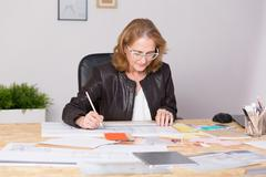 Mature experienced businesswoman Stock Photos