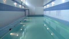 Pool with blue water Stock Footage