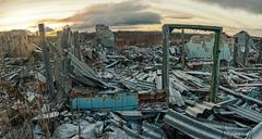 Apocalyptic landscape - stock photo