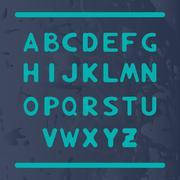 English alphabet with letters round shape - stock illustration