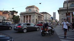 View of Porta Venezia in Milan Stock Footage