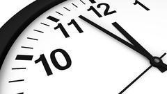 Clock Almost Midnight - stock illustration