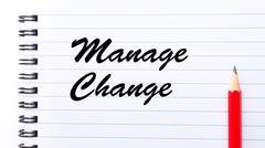 Manage Change - stock photo