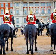 For    the queen in london england horse and cavalry Stock Photos