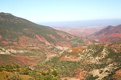 Stock Photo of the    dades valley in red africa ground  nobody