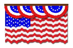 Stars And Stripes Flag And Bunting Stock Illustration