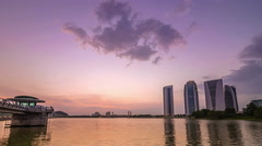 Beautiful Sunset At Putrajaya Lake, Malaysia Stock Footage