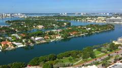 Allison Island Miami Beach Stock Footage
