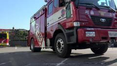 Seoul Rescue vehicle (119) & Firetruck go on a mission. Stock Footage