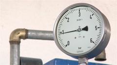Water pressure Gauge Stock Footage