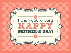 Happy Mothers day. Typography letter font type Stock Illustration