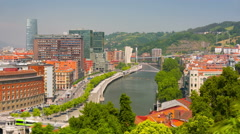 Bilbao in a summer day Stock Footage