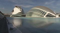 Stock Video Footage of Ciudad de las Artes y las Ciencias with opera building