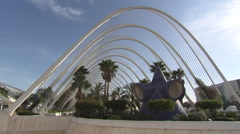 City of Arts and Sciences in Valencia (park) Stock Footage