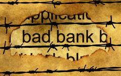 Bad banking concept against barbwire Stock Illustration