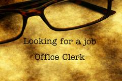 Looking for a job - office clerk Stock Photos