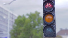 A red light on taffic light Stock Footage