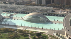 City of Arts and Sciences in Valencia (high angle) - stock footage