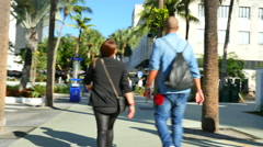 Stock video Lincoln Road Stock Footage