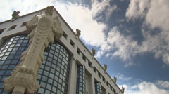 Vienna University of Technology (main library building) Stock Footage