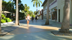 Lincoln Road Motion video footage Stock Footage