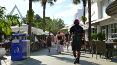 Tourists on Lincoln Road Stock Footage