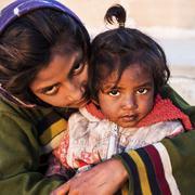 Indian Street Children in Pushkar, Rajasthan, India Stock Photos