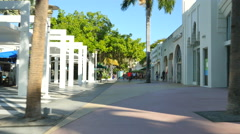Stores at Lincoln Road Miami Beach - stock footage