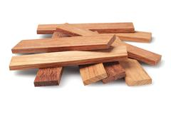 Wood Parquet Pieces - stock photo