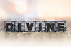 Divine Concept Vintage Letterpress Type - stock photo