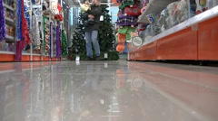 Shopping before the new year Stock Footage