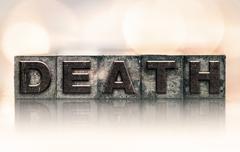 Death Concept Vintage Letterpress Type Stock Photos