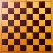 Retro wooden chessboard Stock Photos