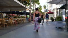 People walking on Lincoln Road - stock footage