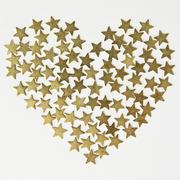 Stars in the shape of heart background on Valentine's Day Stock Photos