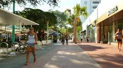 Shopping at Lincoln road - stock footage