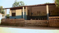 Hospital Guine conacry native village Stock Footage